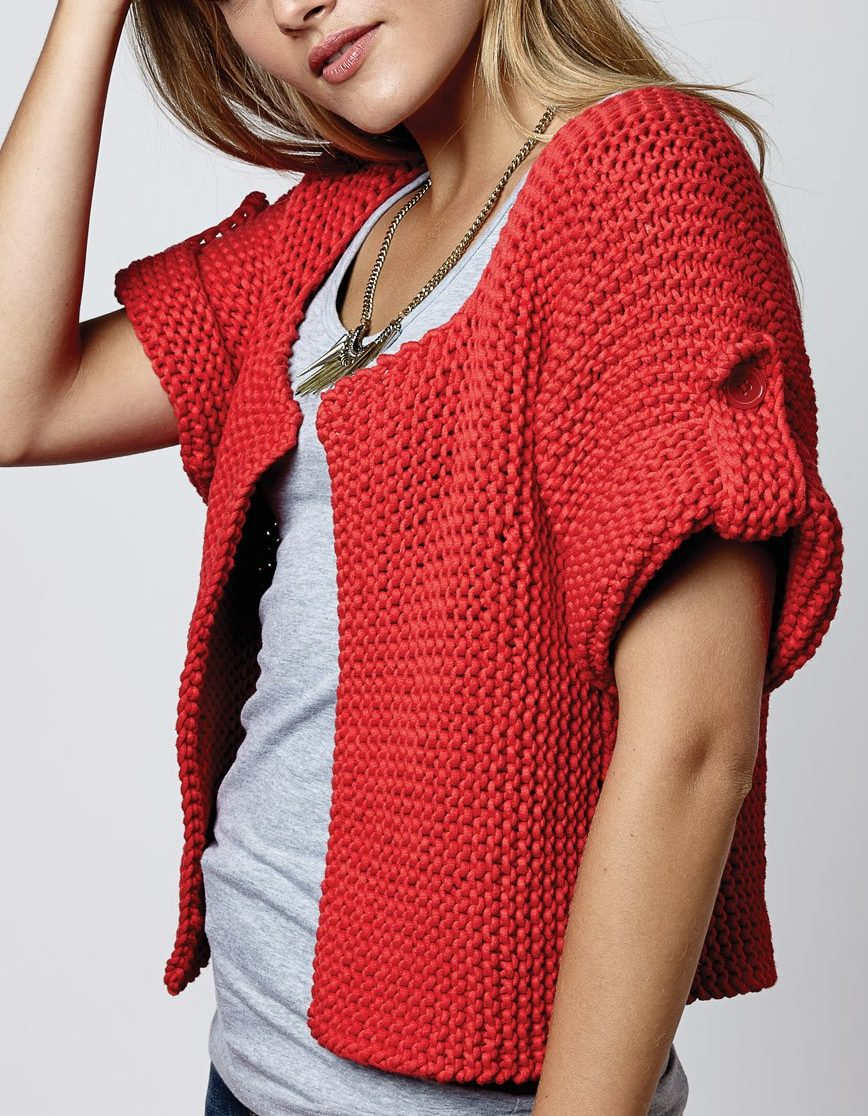 Free Knitting Pattern for Side Street Cardigan