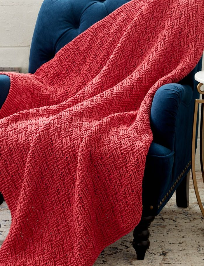 Free Knitting Pattern for Parquet Blanket