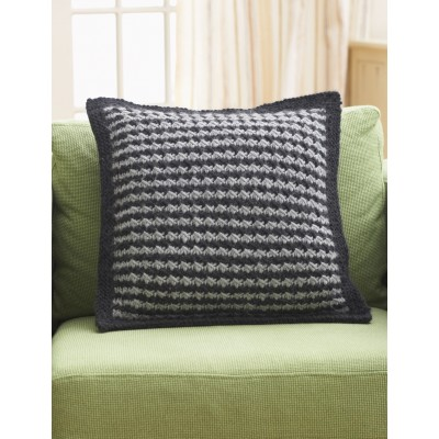 Houndstooth Pillow Free Knitting Pattern and more pillow and cushion knitting patterns
