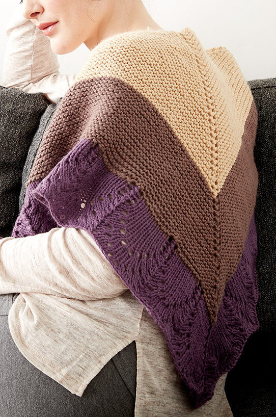 Free Knitting Pattern for Comfort Shawl
