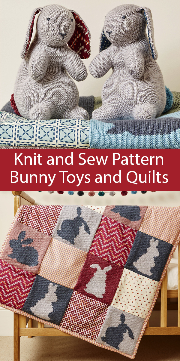 Knitting Pattern for Bunny Toys and Quilts