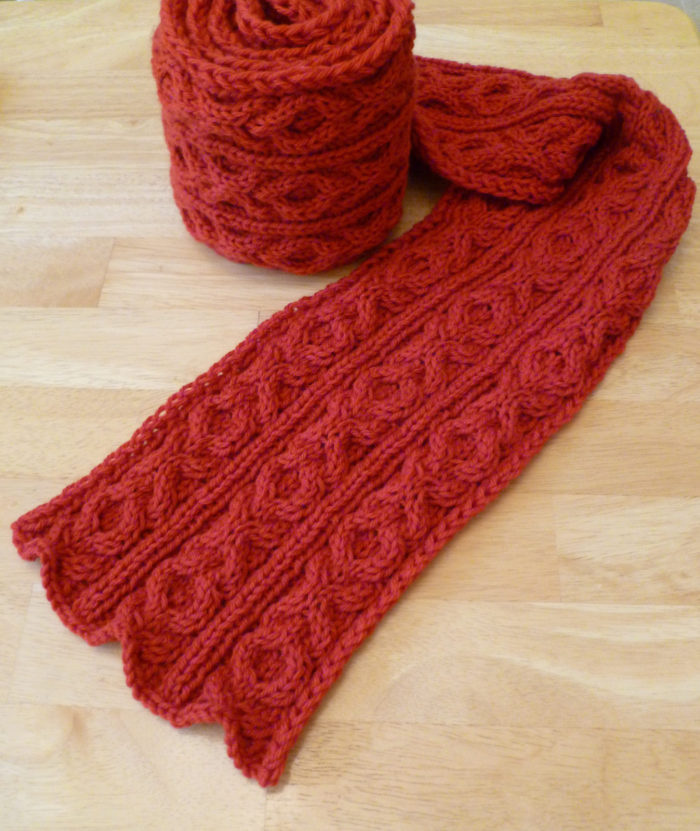 Free Knitting Pattern for Besotted Scarf