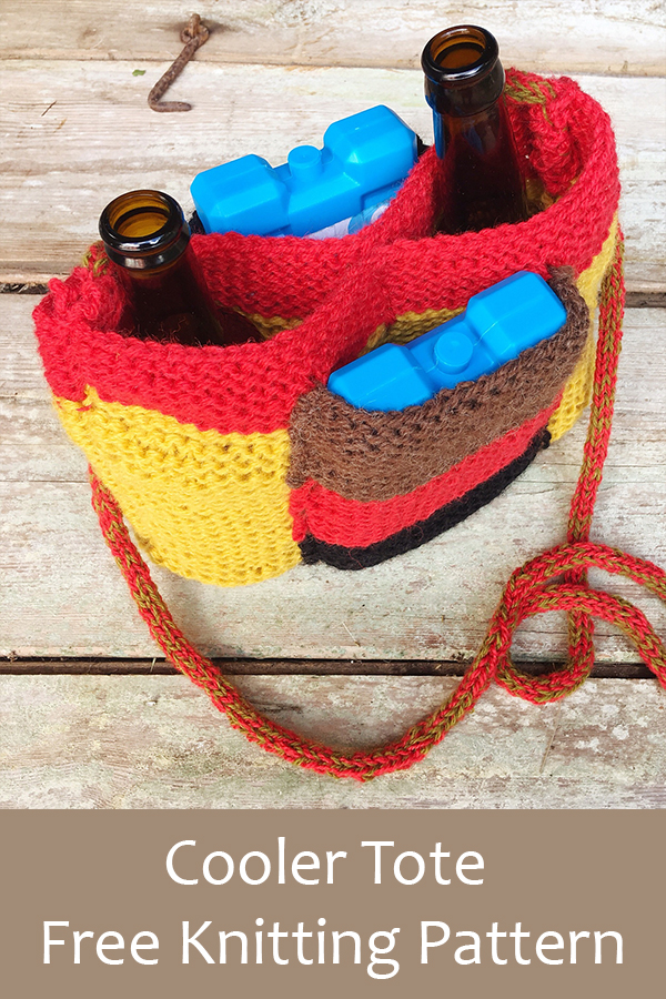 Free Knitting Pattern for Cooler Tote