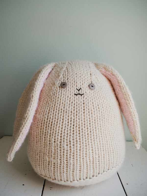 Big Cuddly Bunny Free Knitting Pattern | Free Bunny Rabbit Knitting Patterns at http://intheloopknitting.com/free-bunny-knitting-patterns