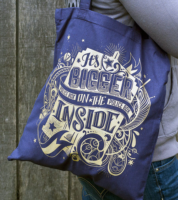 Bigger on the Inside Doctor Who tote