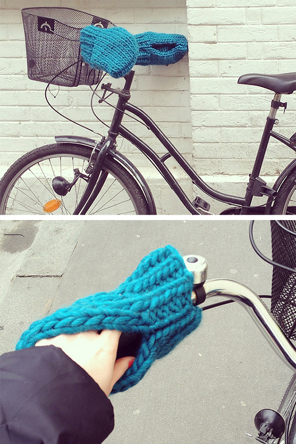 Free Knitting Pattern for Bike Mittens