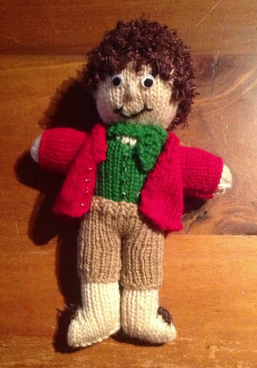 Free Knitting Pattern for Bilbo Baggins