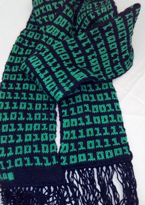 Free Knitting Pattern for Binary Scarf