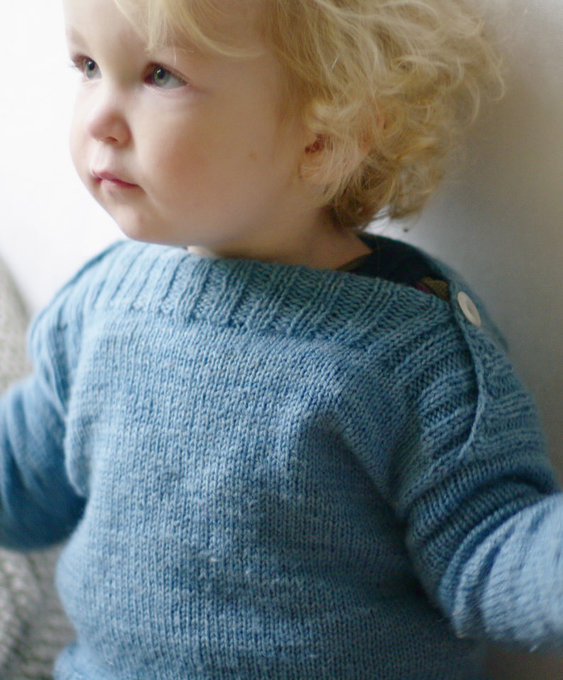 Free Knitting Pattern for Binic Baby Pullover