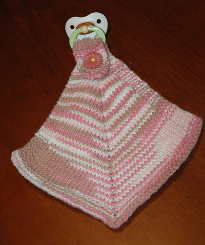 Free knitting pattern for Binky Buddy pacifier holder