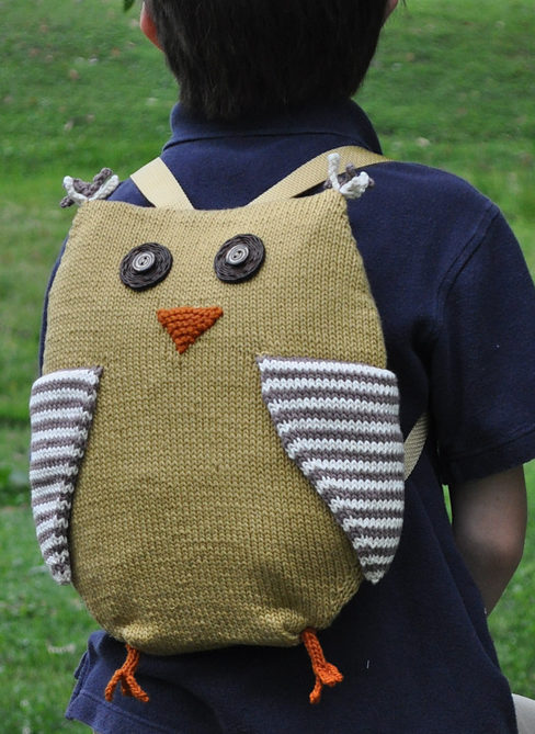 Free Knitting Pattern for Birdie Backpack