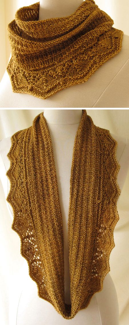 Knitting Pattern for Biscuit Infinity Scarf Cowl