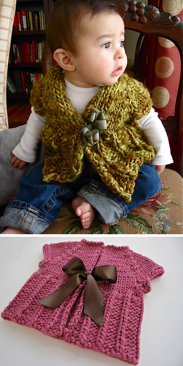Free Knitting Pattern for Easy Quick Baby Cardi