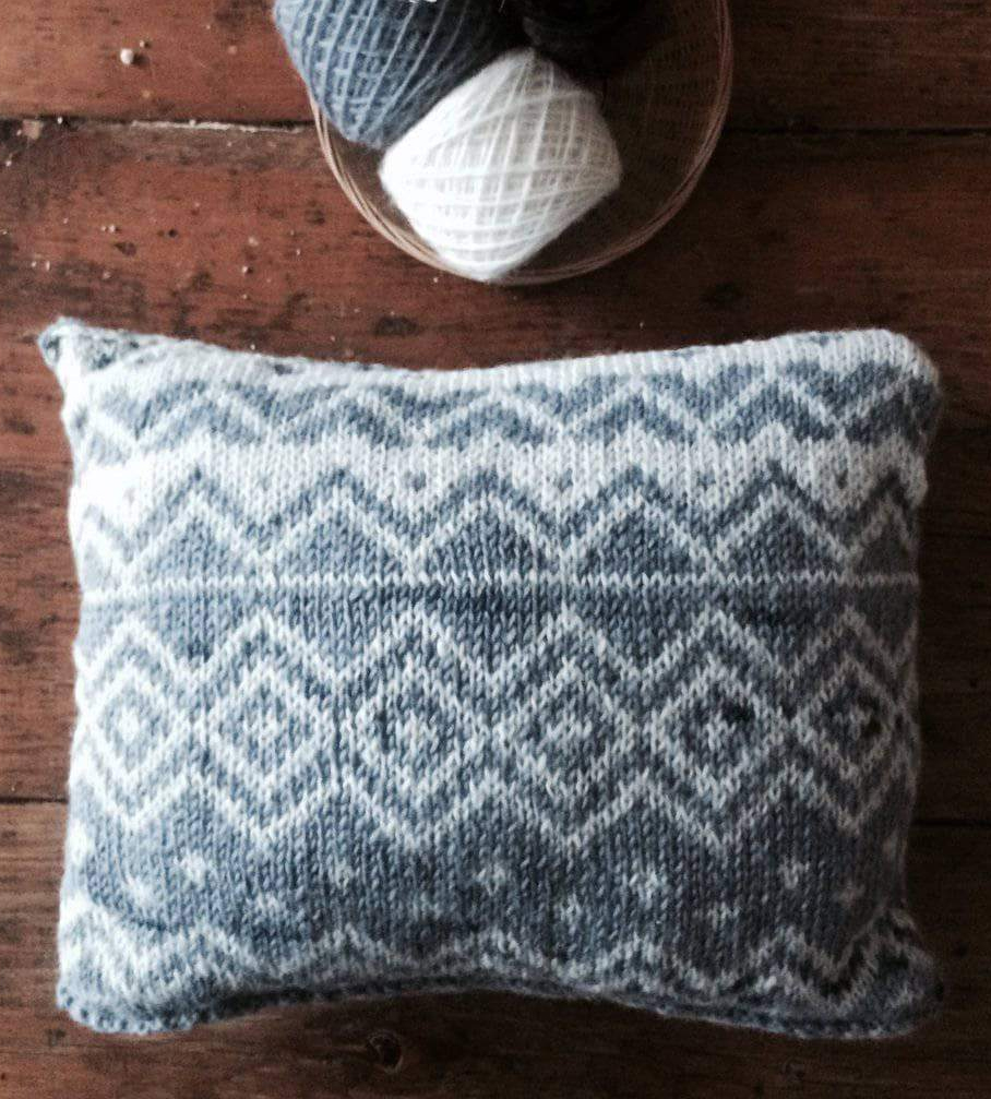 Free Knitting Pattern for Bjerge Pillow