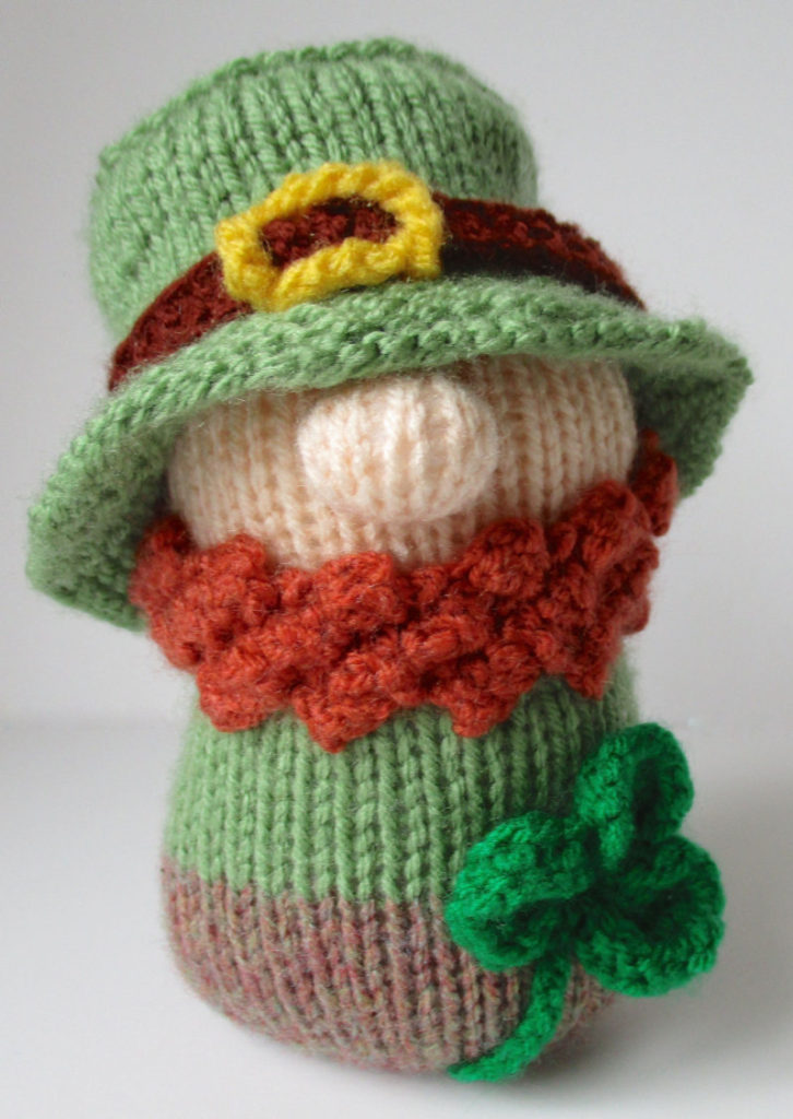 Knitting Pattern for Blarney the Leprechaun Toy