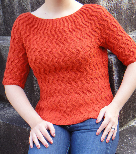 Free Knitting Pattern for Blaze Pullover Sweater