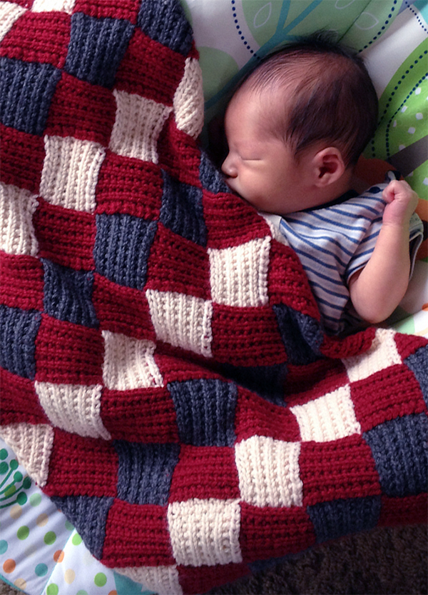 Free Knitting Pattern for Bliss Baby Blanket