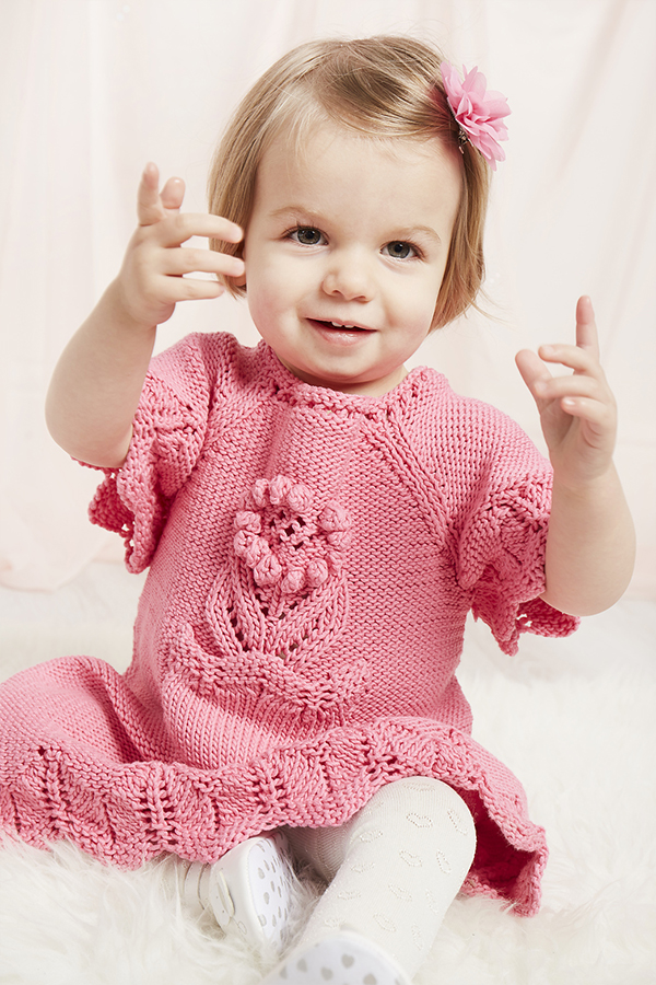 Knitting Pattern for Blossom Baby Dress