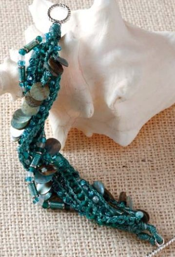 Knitting Pattern for Braided Beaded Bracelet