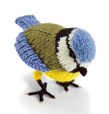 Free knitting pattern for Blue Tit Bird and more bird knitting patterns