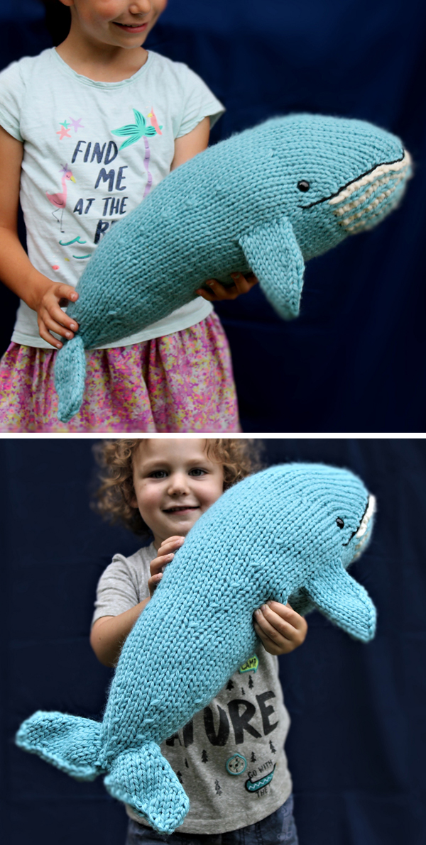 Knitting Pattern for Blue Whale
