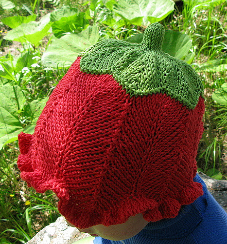 Free Knitting Pattern for Flower Bud Baby Hat