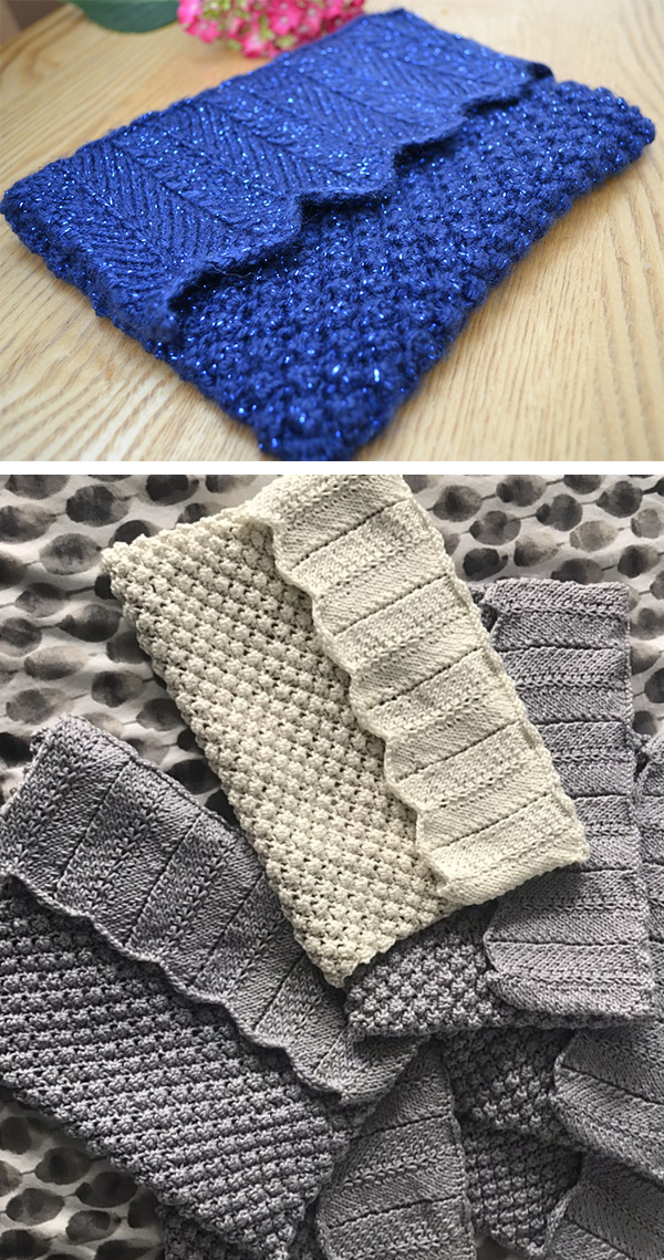 Knitting Pattern for Blueberry Clutch Bag