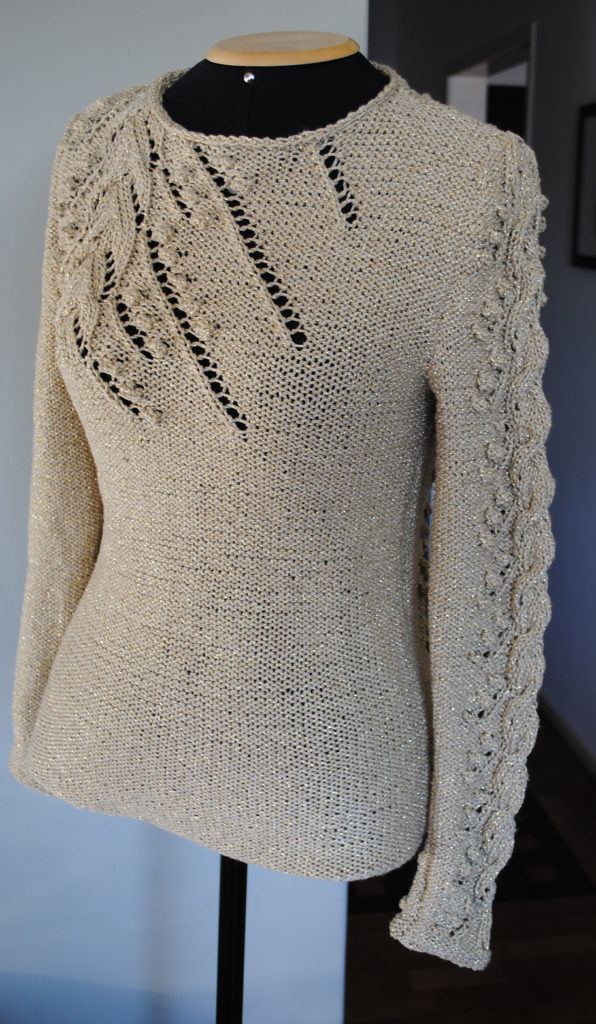 Free Knitting Pattern for Blusa Preciosa