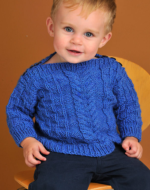 Knitting Pattern for Baby Boatneck Pullover