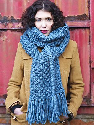 Free knitting pattern for Bobbly Scarf and more scarf knitting patterns