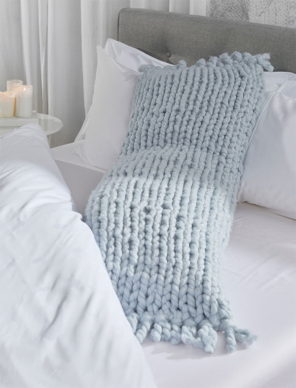 Free Knitting Pattern for Easy Body Pillow