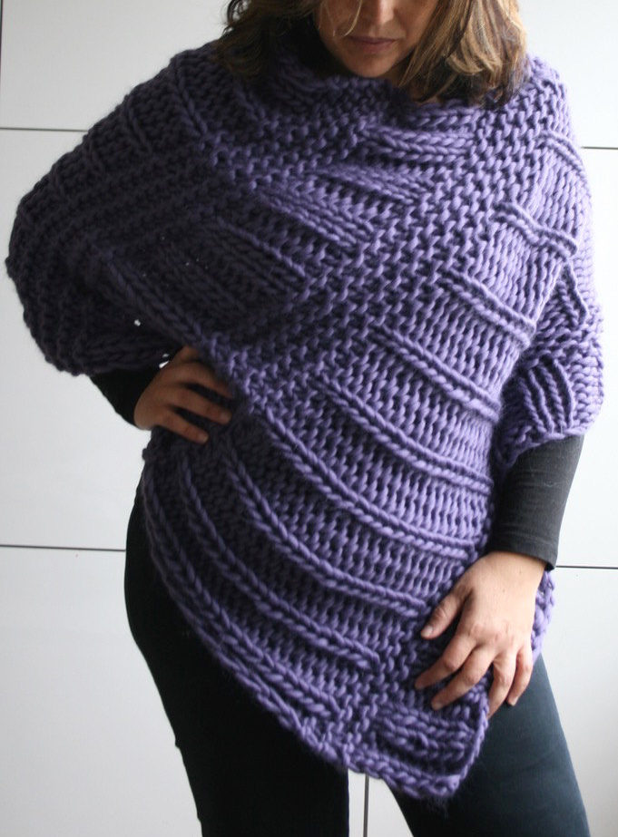 Free Knitting Pattern for Boho Poncho