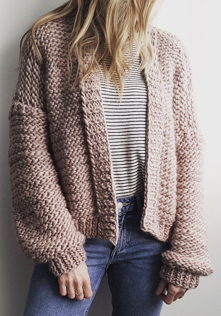 Knitting Pattern for Bomber Cardi