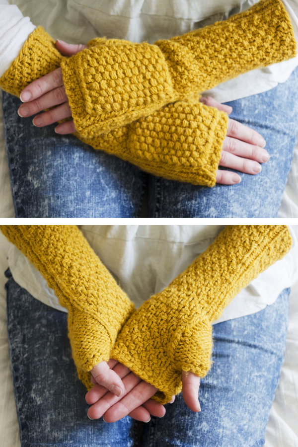 Free Knitting Pattern for Hobbit Inspired Bombur Mitts