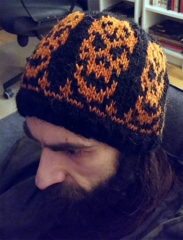 Free Knitting Pattern for Bonehat