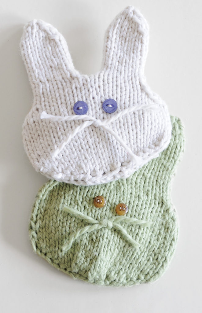 Knitting Pattern for Boo-Boo Bunny Ice Pack Cozy