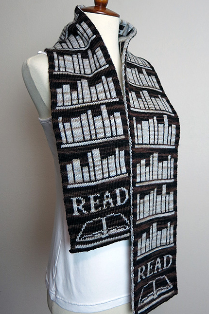 Knitting Pattern for Book Lover Scarf