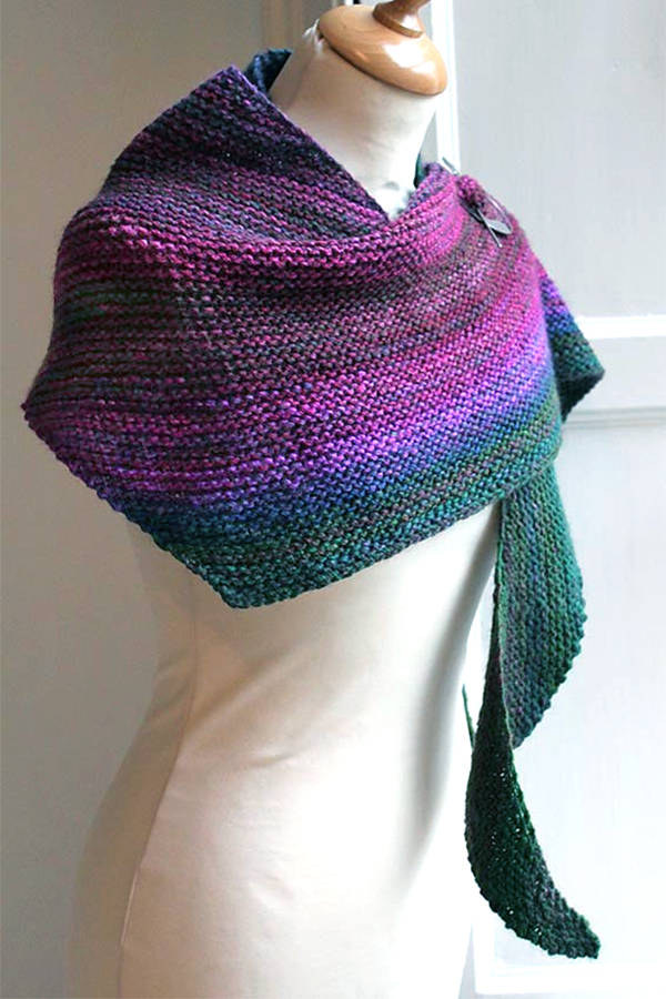 Free Knitting Pattern for Easy Boom! Shawl