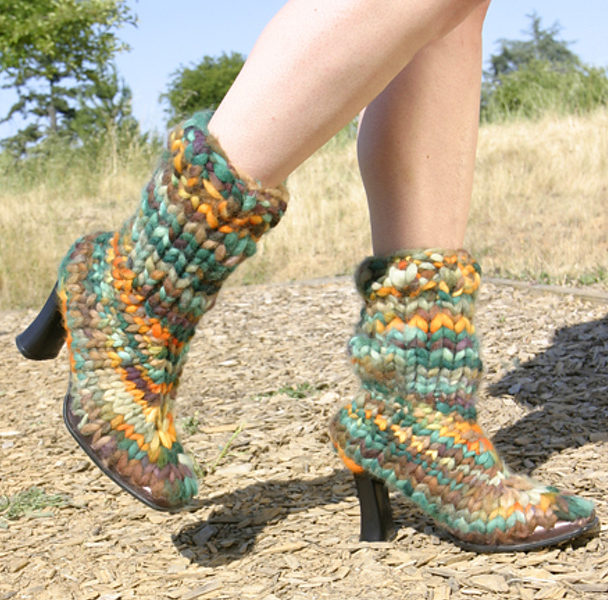 Free Knitting Pattern for Knitted Boots