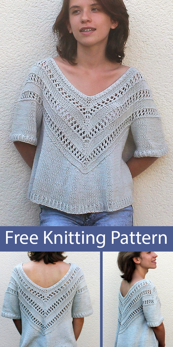 Free Knitting Pattern for Boré Top