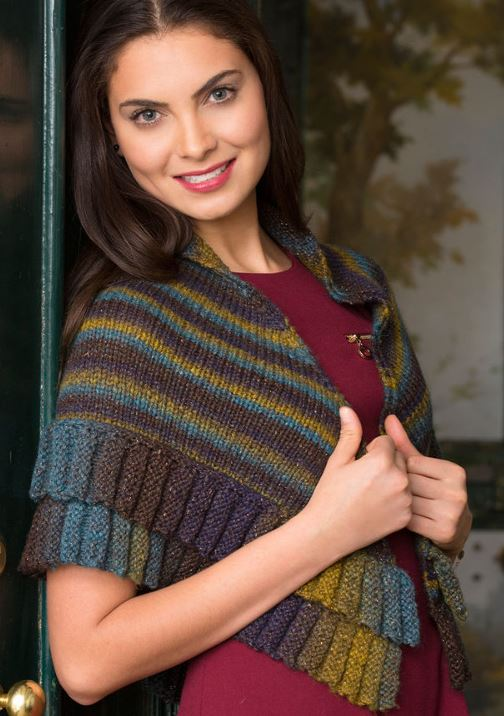 Free Knitting Pattern for Borealis Mitered Shawl