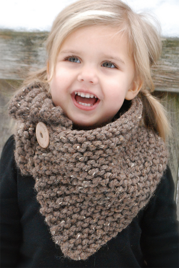 Knitting Pattern for Boston Cowl - Adult, Child, Toddler sizes
