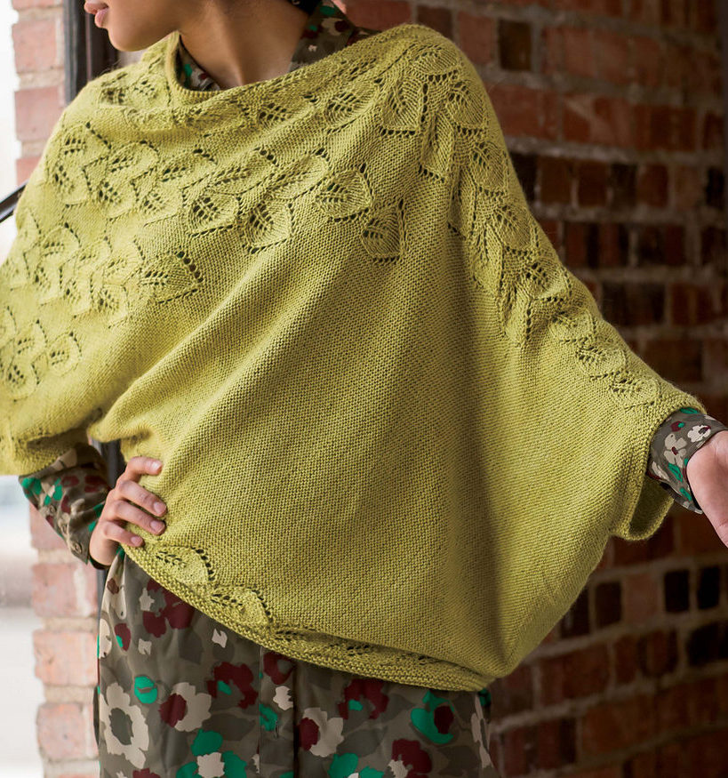 Knitting Pattern for Botanic Pullover Poncho