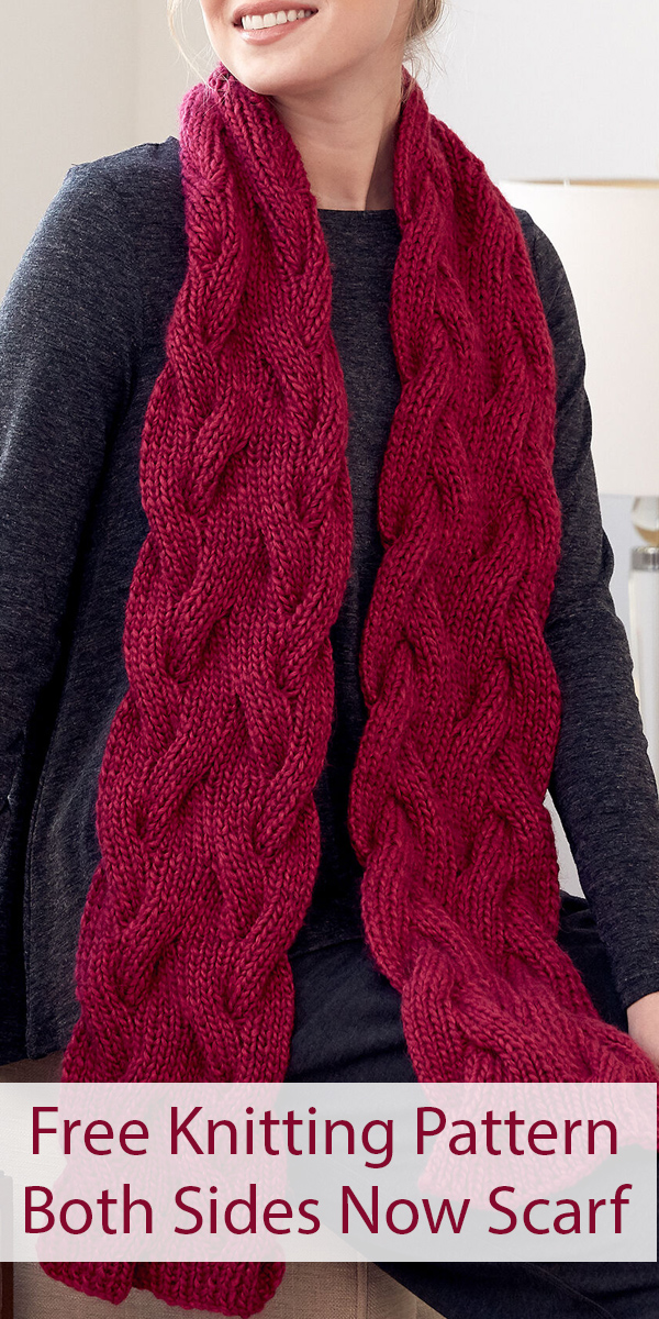 Free Knitting Pattern for Reversible Both Sides Now Scarf