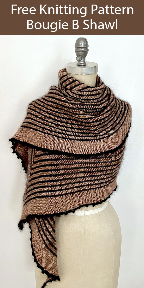 Free Shawl Knitting Pattern for Bougie B Shawl