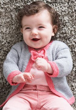 Baby Bow Tie Cardigan Free Knitting Pattern | Free Baby and Toddler Sweater Knitting Patterns including cardigans, pullovers, jackets and more http://intheloopknitting.com/free-baby-and-child-sweater-knitting-patterns/