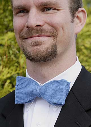 Free knitting pattern for bow tie and more knitting patterns for men