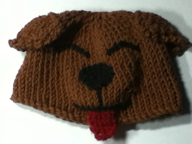 Bow Wow Beanie Free Knitting Pattern