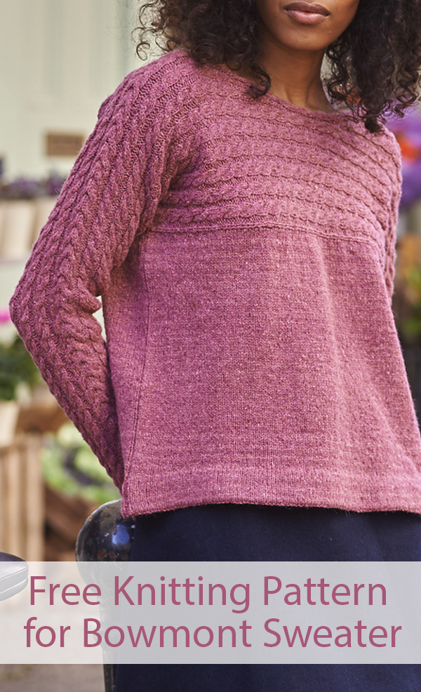 Free Knitting Pattern for Bowmont Sweater