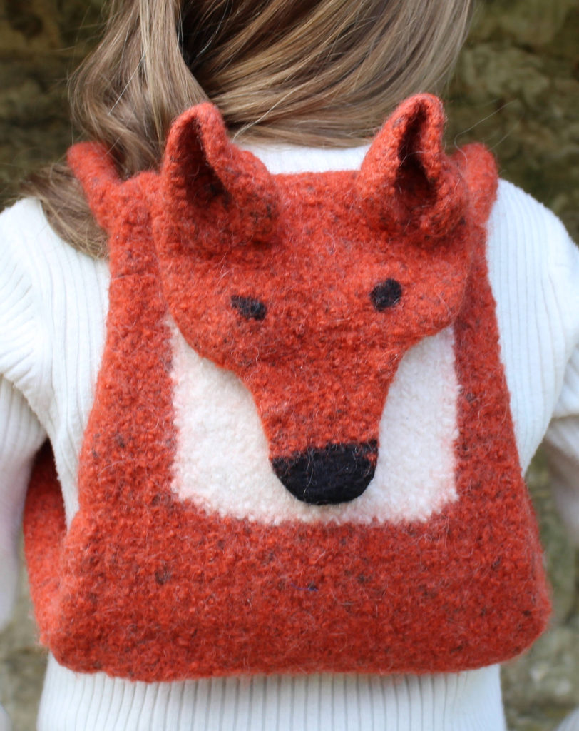 Knitting Pattern for Fox Backpack or Messenger Bag